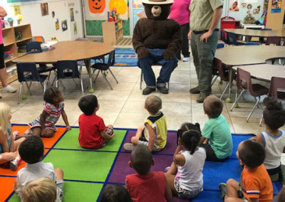 Smokey the Bear visits EduCare Learning Center