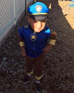Children dressed up in costumes on October 31, to celebrate Super Hero day.