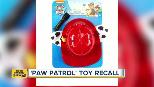Fire Danger Recall – Nickelodeon PAW PATROL Marshall Hat with Flashlight
