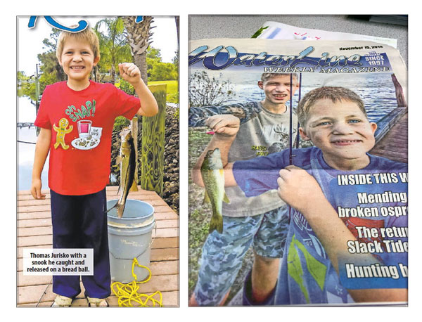 Thomas, a boy at Educare, is pictured in the Waterline Newspaper holding a fish.
